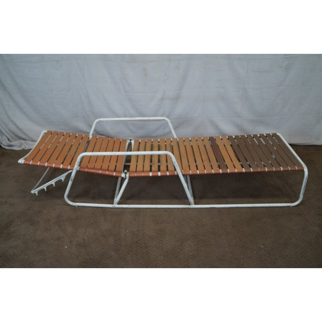 Image of Brown Jordan Mid Century Patio Chaise Lounges