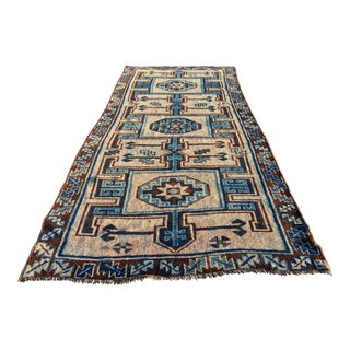 "Vintage Turkish Oushak Large Heavy Soft Rug - 5'2""x11'1"""