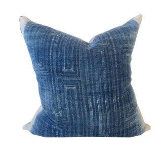 Vintage Batik Indigo Pillow 14 x 14