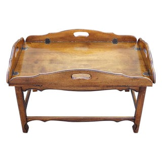 '70's Dark Wood Tone Drop Leaf Coffee Table