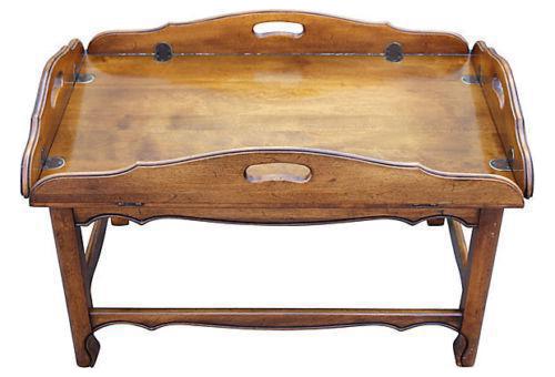 U002770u0027s Dark Wood Tone Drop Leaf Coffee Table U0027