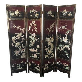 Lacquered Chinese Screen