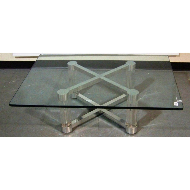 Lucite & Chrome Coffee Table - Image 2 of 5