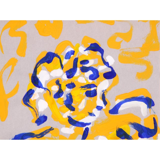 P. Callahan Woman in Blue & Orange Painting - Image 4 of 5