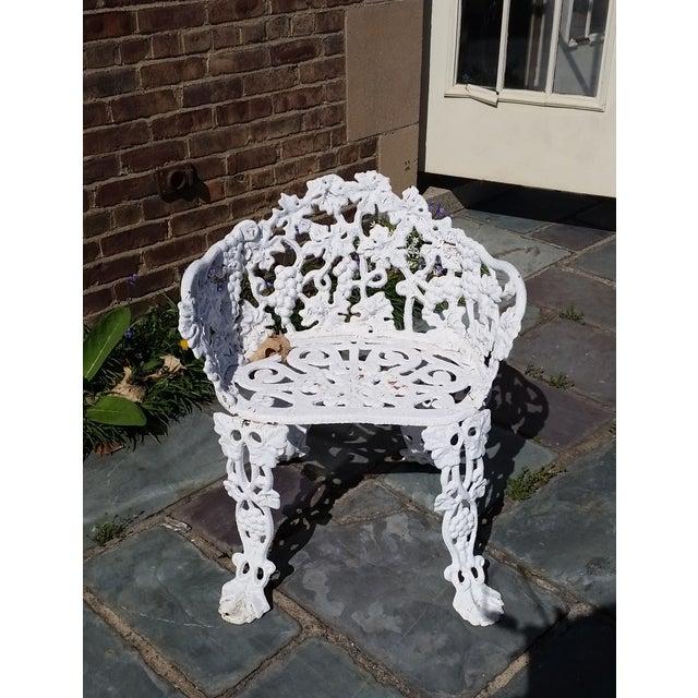 Antique Cast Iron Garden Bench - Image 2 of 11