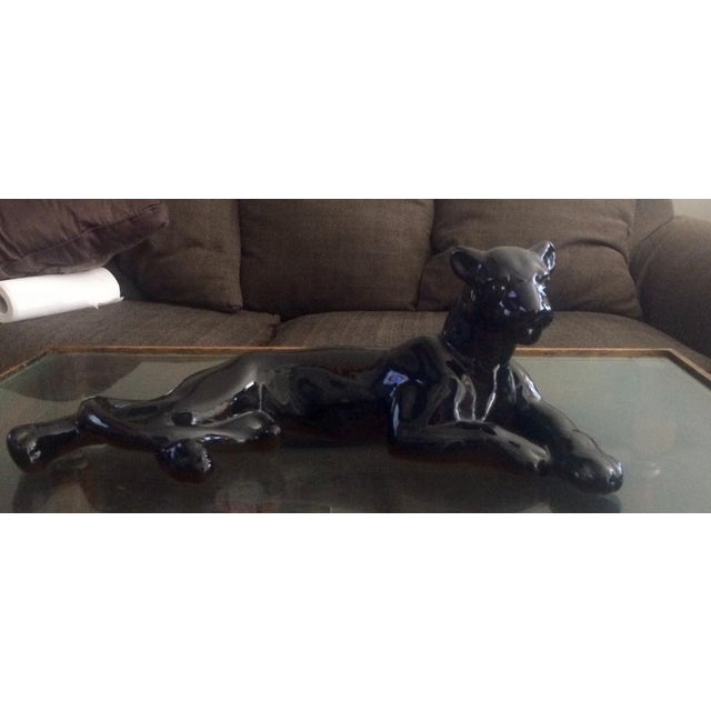 Art Deco Black Jaguar Figure - Image 2 of 7