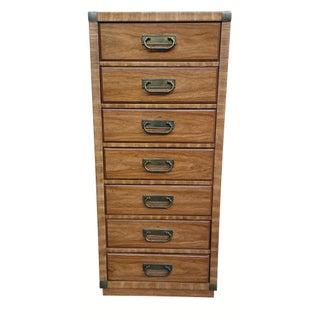 Drexel Campaign Style Tall Chest