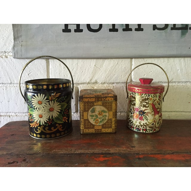 Rustic European Tins - Set of 3 - Image 2 of 10