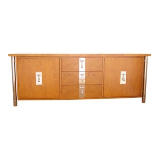 Burl Wood Solid Credenza by Mastercraft