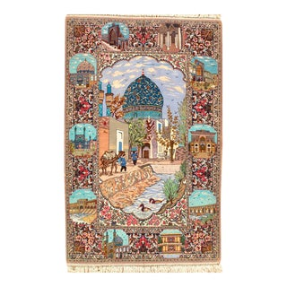 """Persian Hand-Knotted Rug - 3'8"""" x 5'10"""""""