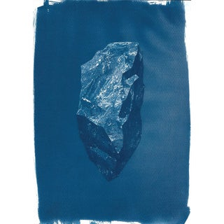 Cyanotype Print - Low-Poly Rock