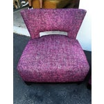 Image of Modern Purple Swivel Chairs - A Pair