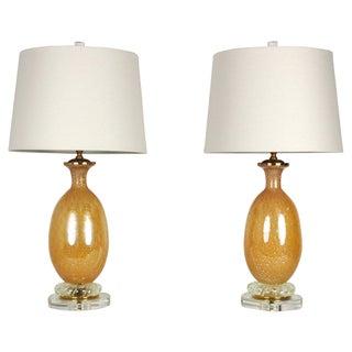 Seguso Murano Lamps - A Pair