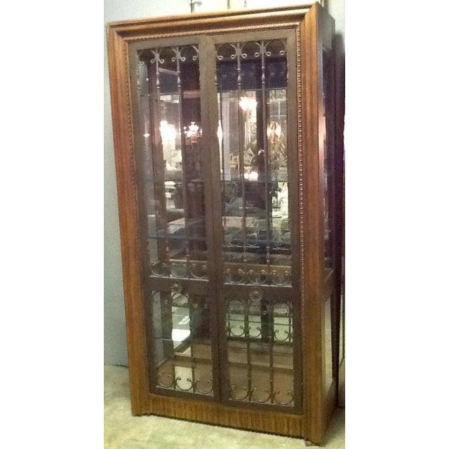 Bernhardt Wood, Glass & Iron Curio Cabinet - Image 3 of 5