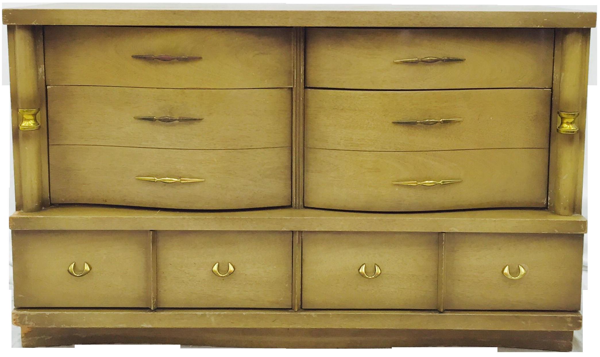 Bassett Furniture Mid Century Dresser