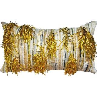 Goldfinger Woven Pillow
