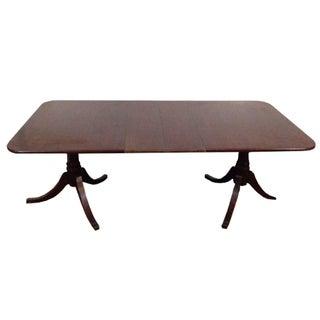 Mahogany Double Pedestal Dining Table