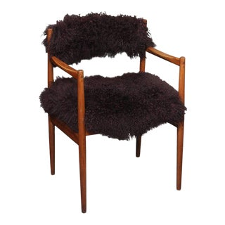 Cassina Side Chair in Curly Lamb