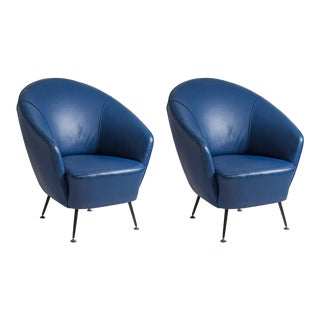 Pair of Gio Ponti or Ico Parisi Style Chairs