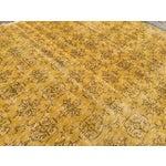 Image of Vintage Mustard Overdyed Rug - 6′5″ × 9′5″