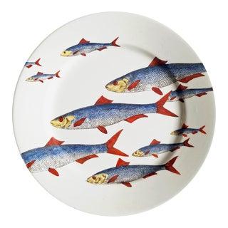 Piero Fornasetti Fish Plate, Passata de Pesce 'Passage of Fish'