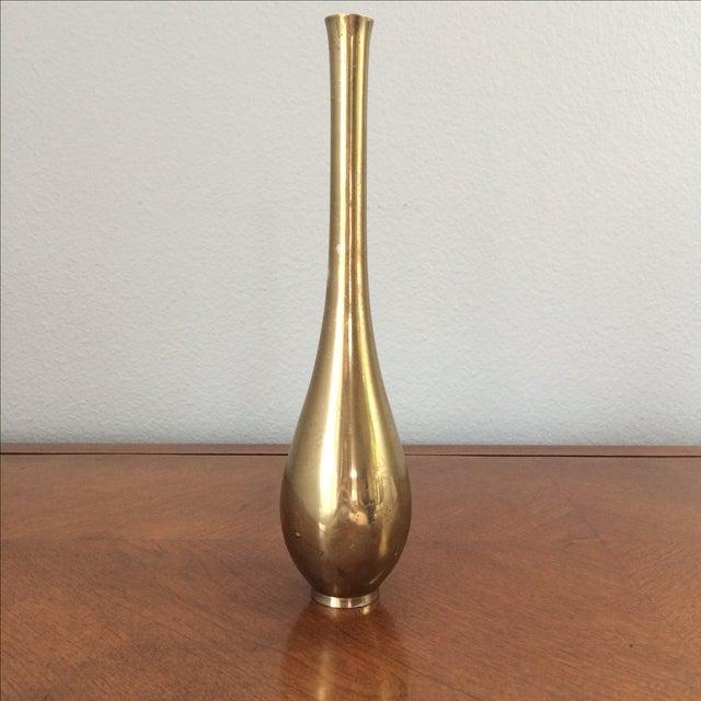 Vintage Modern Brass Vase - Image 2 of 6