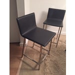 Image of Cb2 Carbon Grey Bar Counter Stools - Set of 2