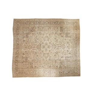 "Vintage Distressed Meshed Carpet - 9'6"" x 10'10"""