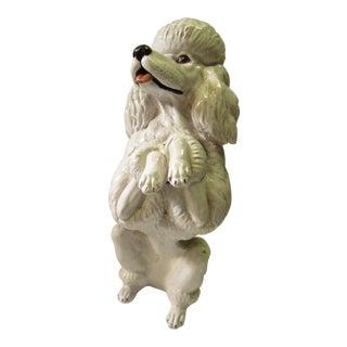 Vintage Italian Ceramic Poodle Dog