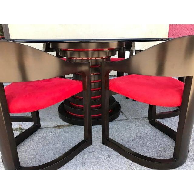 Karl Springer Style Dining Set - Image 7 of 7