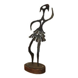 Brutalist Ballerina Figure