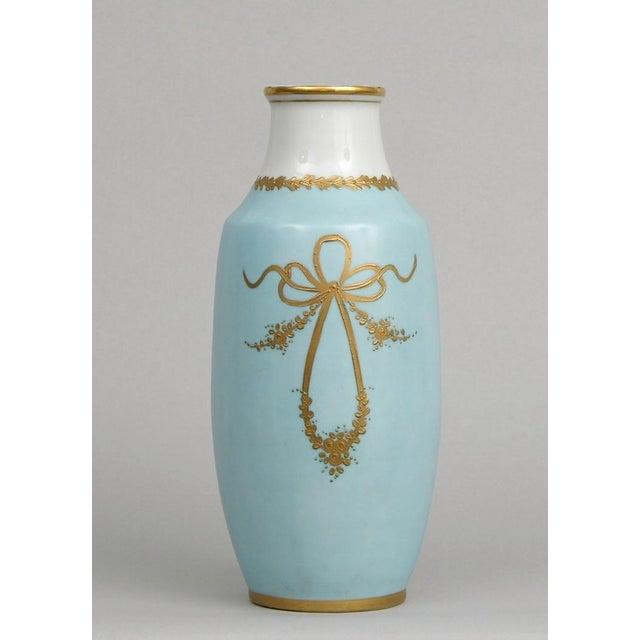 French Antique Porcelain Toile Vase - Image 4 of 10