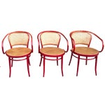 Image of Thonet Attri. Rattan Dining Chairs - Set of 3