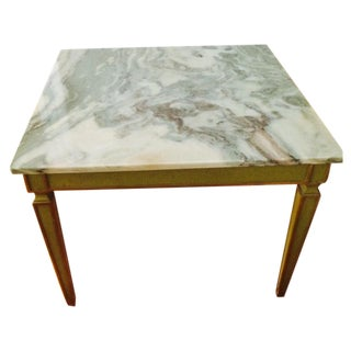 Vintage Classic Marble Topped Side Table - Pair