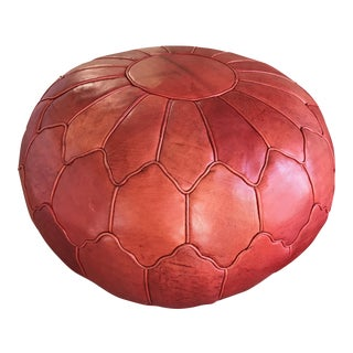 Custom Leather Moroccan Pouf