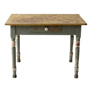 Antique American Painted Wood Farm Table