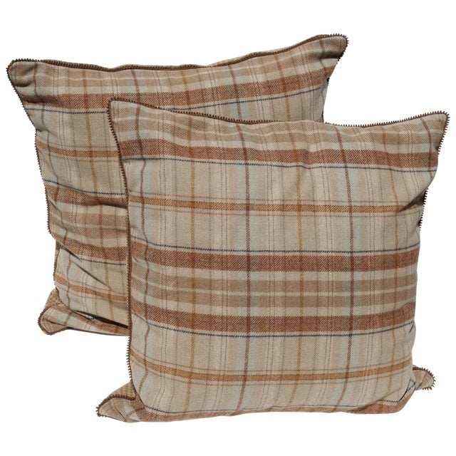 Ethan Allen Extra Large Wool Pillows - A Pair Chairish