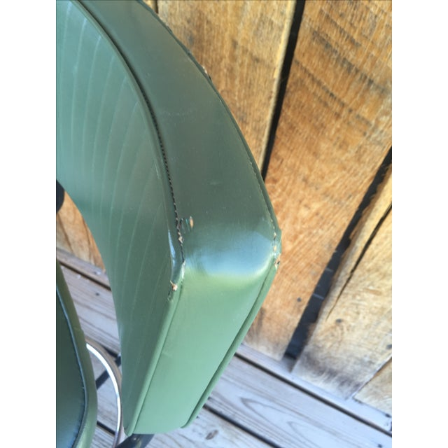 Mid-Century Bar Stools in Jade - A Pair - Image 7 of 11