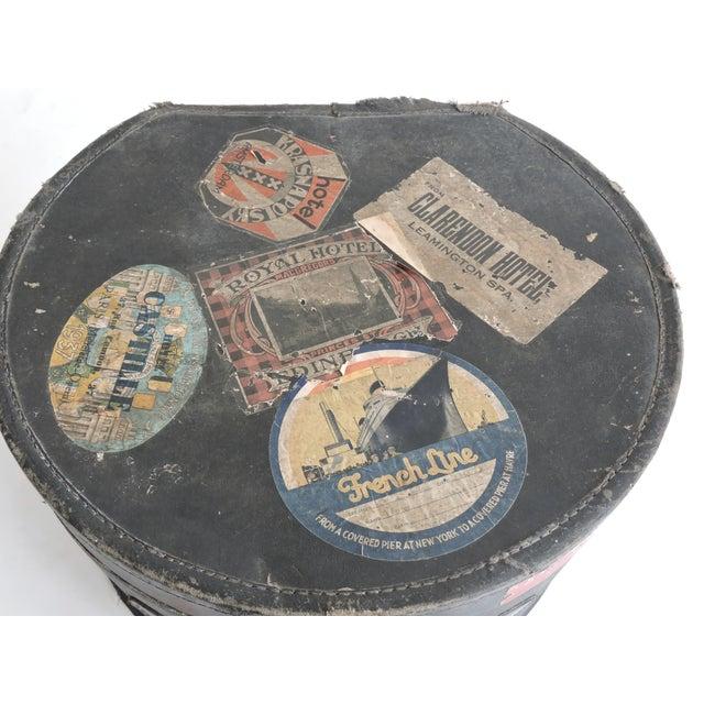 European Depression Era Travel Decals Hat Box - Image 3 of 6