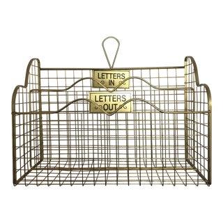 Brass Wire Letter Sorter Basket