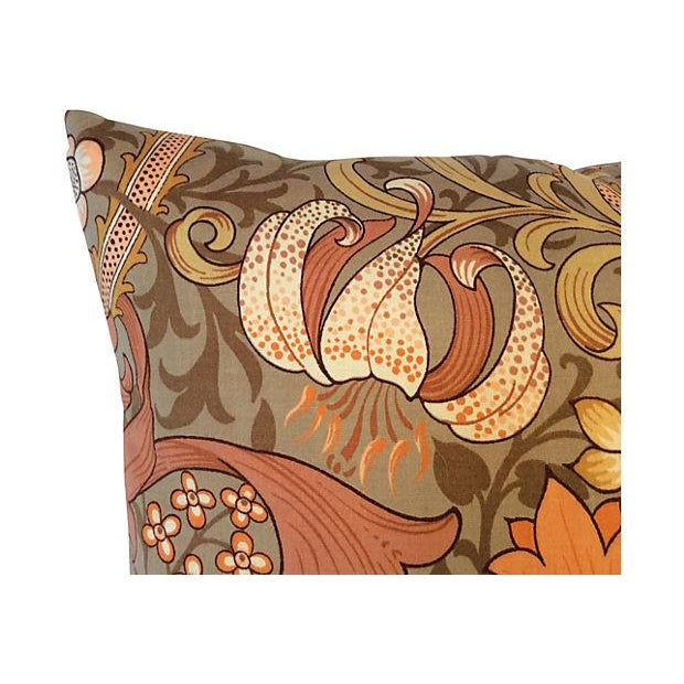 Image of William Morris English Golden Lily Textile Pillow