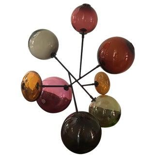 SkLO Multi-Color Blown Glass Sculpture