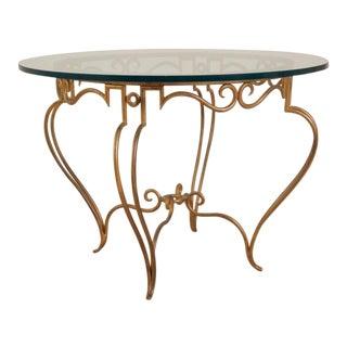 Rene Drouet Gilt Iron Side Table