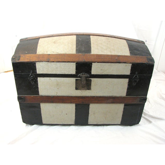 100 Year Old Saratoga Petite Dome Top Doll Trunk - Image 9 of 11