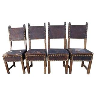 Spanish Colonial Santa Barbara Mission Chairs - Set of 4