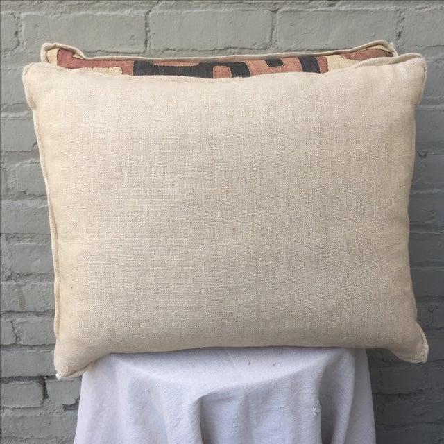 African Kuba Cloth Pillows - A Pair - Image 5 of 5