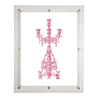 Mitchell Black Home Acrylic Framed Candelabra Art Print