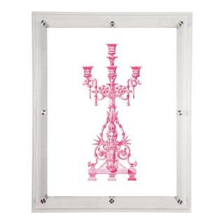 Mitchell Black Home Acrylic Framed Candelabra Art Print