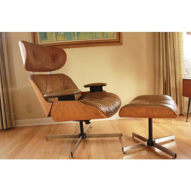 Eames Style Selig Chair & Ottoman, 1975 - Image 2 of 10