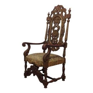Italian Renaissance Revival Late 19th Century Carved Armchair